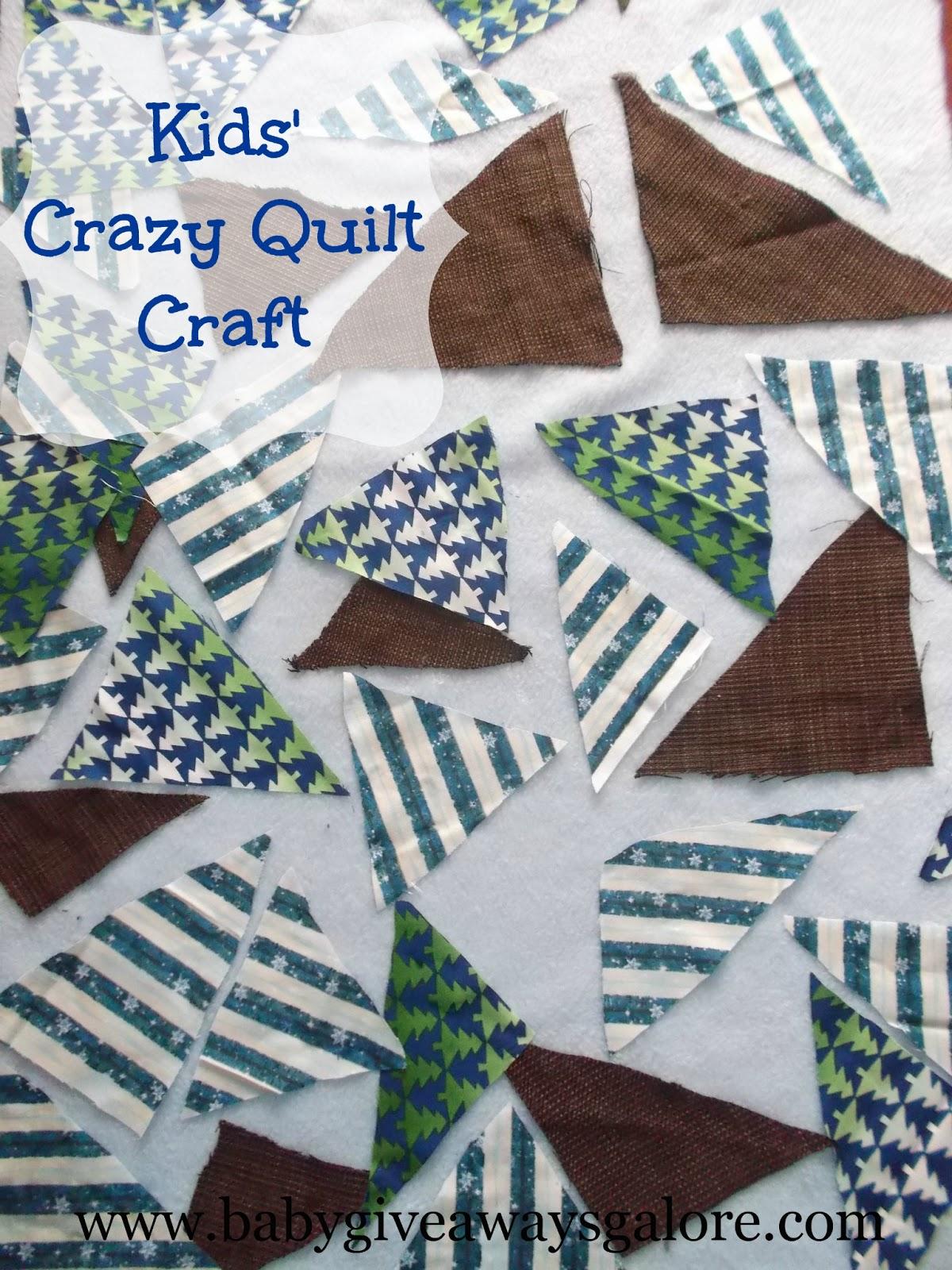 Artsy Play Wednesday Kids Crazy Quilt Craft Multi