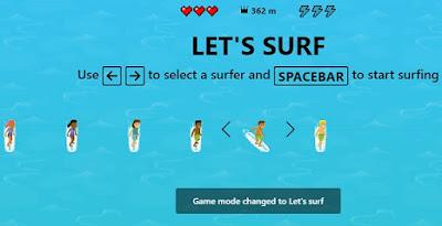 لعبة Surfing في متصفح مايكروسوفت إيدج وكيفية تشغيلها