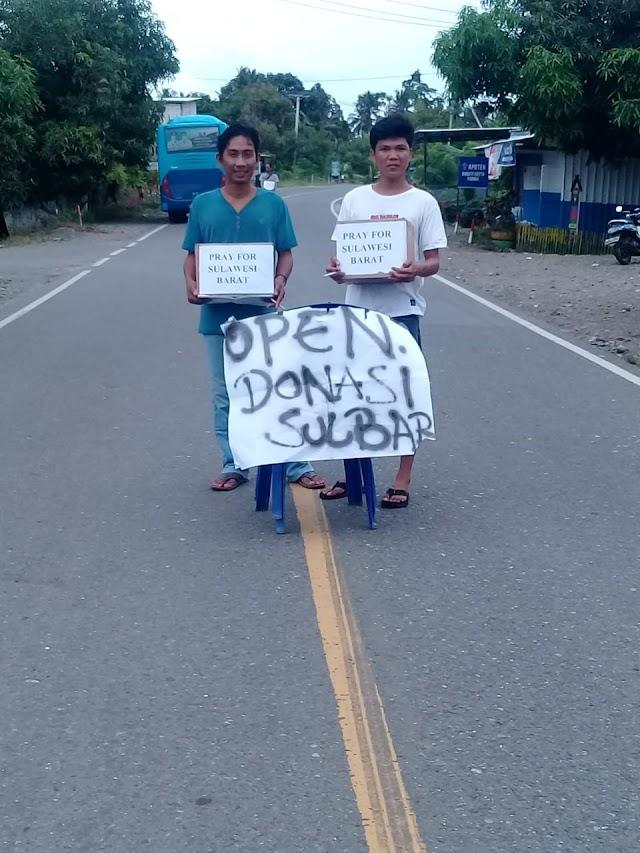 Karang Taruna Desa Bakti,Melakukan Aksi Penggalangan Dana Gempa Sulbar