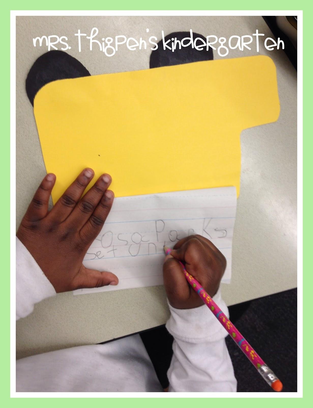 Mrs Thigpen S Kindergarten Rosa Parks Amp Ruby Bridges Black History Month Activities