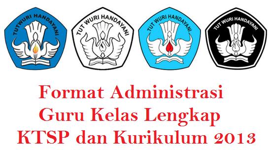 Administrasi Guru Kelas KTSP dan Kurikulum 2013