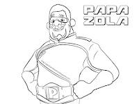 Gambar Mewarna Papa Zola