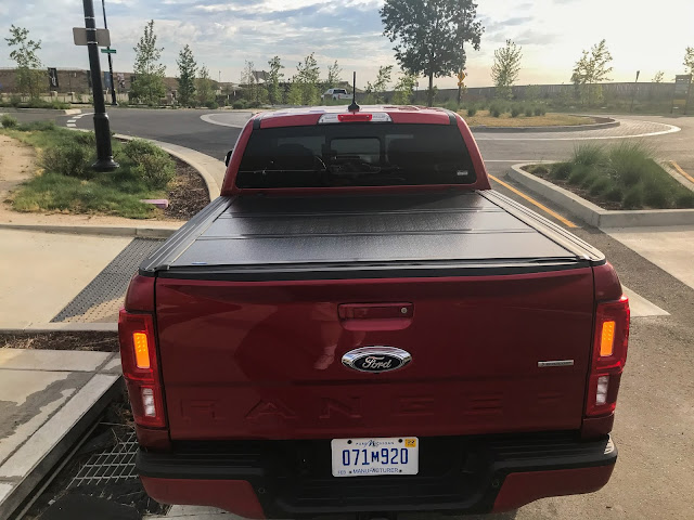 Rear view of 2020 Ford Ranger Supercrew 4X4 Lariat