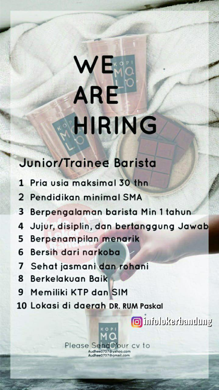 Lowongan Kerja Junior Trainee Barista Kopi Molo Bandung Juli 2019