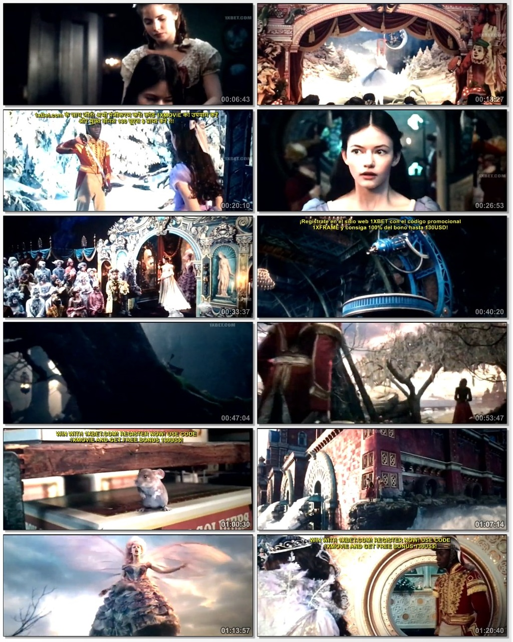 Screen Shot Of The Nutcracker and the Four Realms 2018 Full Movie Download Free Watch Online 300MB