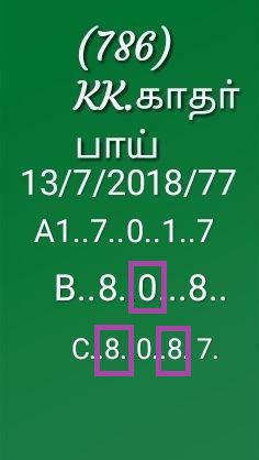 KK Kerala Lottery abc all board Guessing  13-07-2018 nirmal NR-77