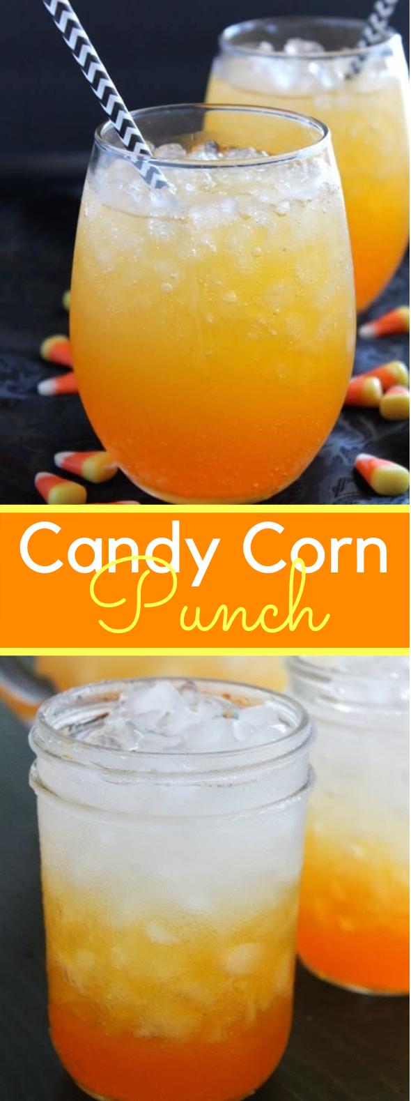 CANDY CORN PUNCH #drinks #halloweendrink