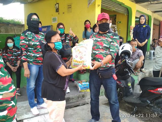 Gelar Aksi Sosial Peduli Covid-19 LMP Kota Bandar Lampung Bagikan Masker, Nasi Kotak, dan Beras.