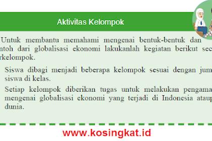 Kunci Jawaban IPS Kelas 9 Halaman 119 Aktivitas Individu