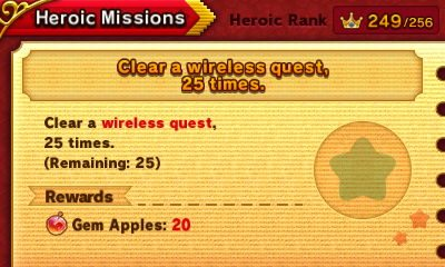 Team Kirby Clash Deluxe heroic missions clear a wireless quest 25 times