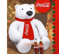 Logo Con Coca-Cola puoi vincere un peluche gigante a forma di Orso ( 1000 Maxi Orso)
