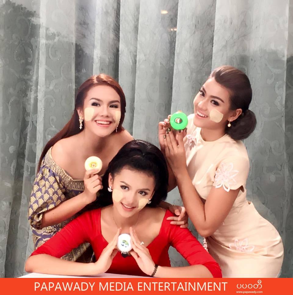 Ei Chaw Po In Shwe Pyi Nan Thanakhar TVC Shooting Scenes