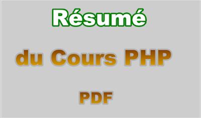 Résumé du Cours de Langage PHP PDF