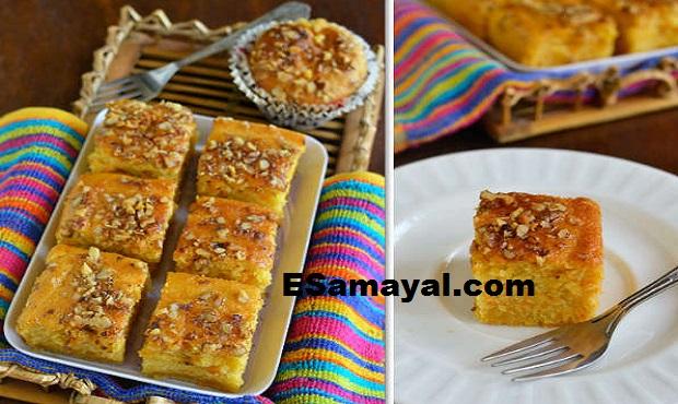 எக்லெஸ் கேரட் கேக் செய்வது | Eggless carrot cake Recipe !