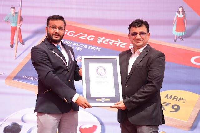 From Left Mr. Swapnil Dangarikar, Adjudicating Officer, Guinness World Records™ and Mr Dillip Kumar Ganta Business Head UP-West