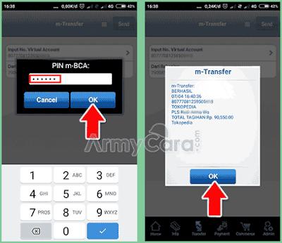 contoh pembayaran tokopedia bca virtual account