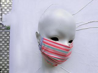 face mask, women fashion, fashion face mask, stripe face mask, travel mask, dust mask, Etsy shop, Vesna Kolobaric