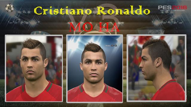 PES 2016 Cristiano Ronaldo Face & Hair