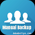 how to manually backup your phone contacts