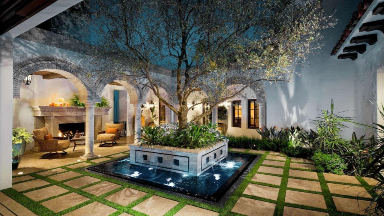 patios con adoquin