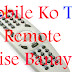 Tv remote control from android mobile