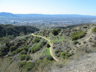 View west above Wildwood Canyon
