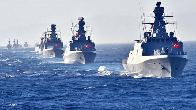 Ασκήσεις μεγάλης κλίμακας του τουρκικού ναυτικού ανοιχτά της Λιβύης