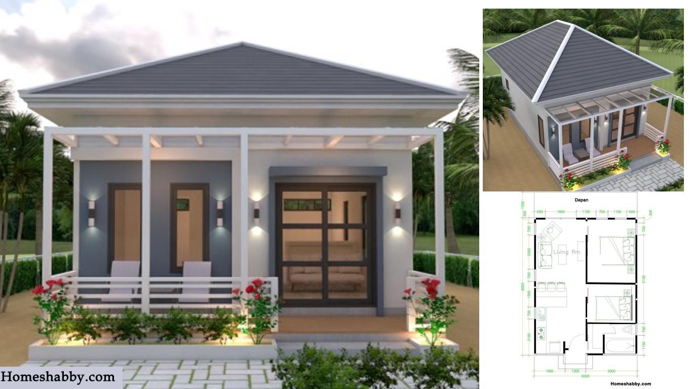 Desain Dan Denah Rumah Kecil Ukuran 6 X 8 M Tampil Sederhana Dengan Nuansa Asri Homeshabby Com Design Home Plans Home Decorating And Interior Design