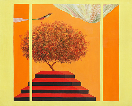 JAGDISH SWAMINATHAN (1928-1994) Untitled (Bird, Tree and Mountain Series)