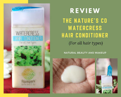 The Nature's Co watercress hair conditioner review for all hair types