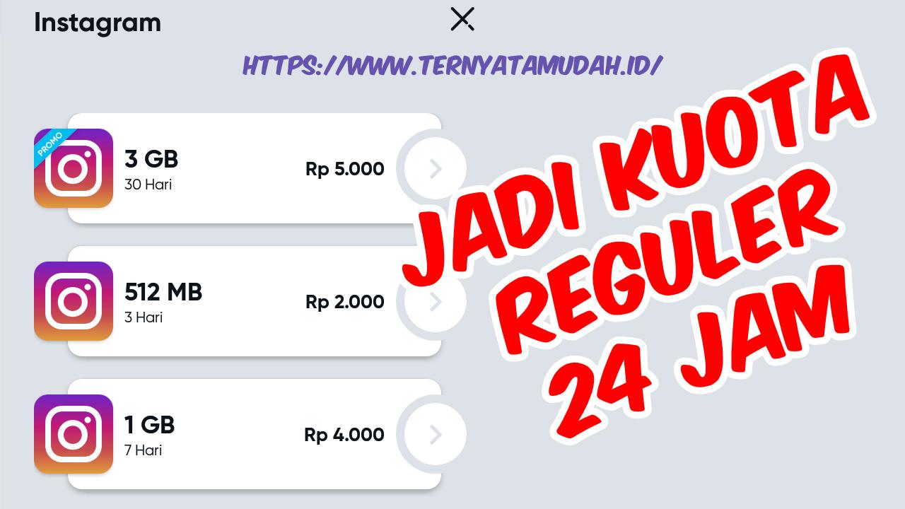 Cara Merubah Kuota Instagram By.u Menjadi Kuota Reguler 24 Jam (100% Work)