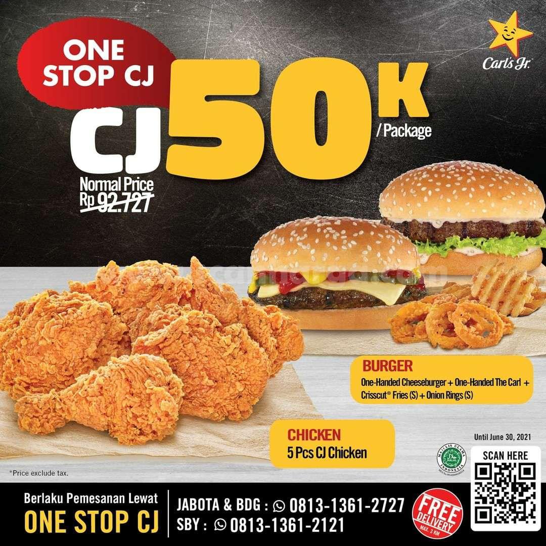 Promo Carls Jr paket 5 CJ Chicken cuma Rp. 50.000