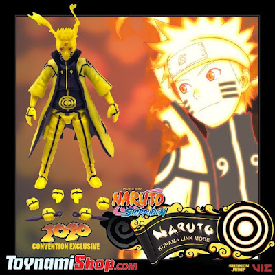 San Diego Comic-Con 2020 Exclusive Shonen Jump Nauruto Shippuden Naruto Kurama Link Mode Action Figure by Toynami