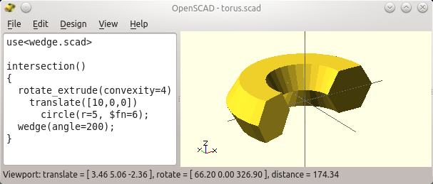 OpenSCAD造型:循环、挤出及其高级应用 - openthings的个人空间