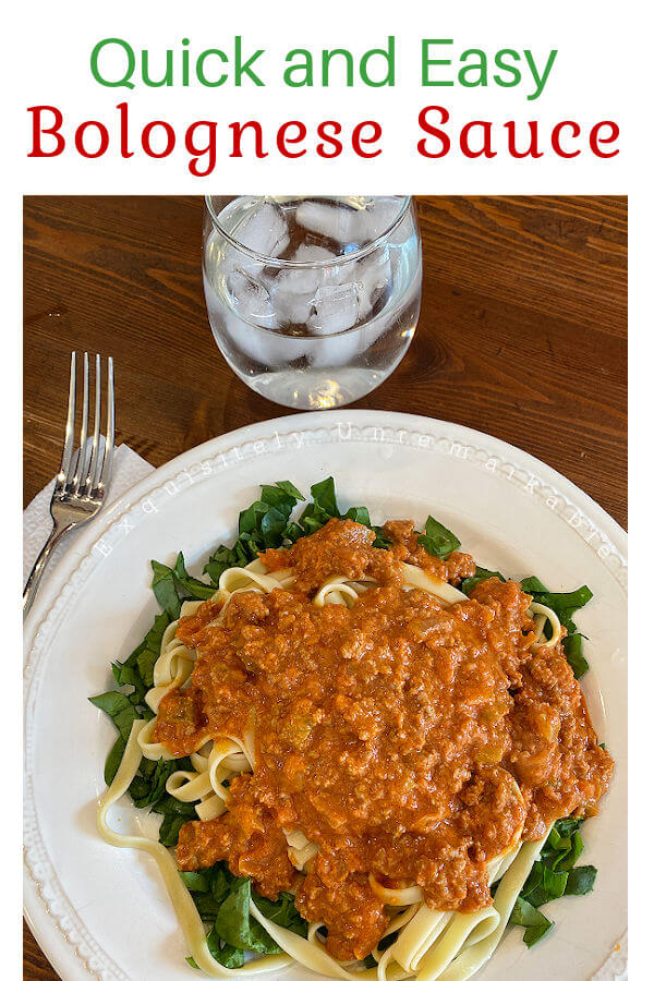 Quick and Easy Bolognese Sauce Recipe Pin