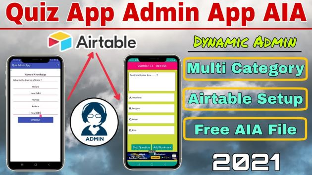 How to Create Quiz Admin App using Airtable.