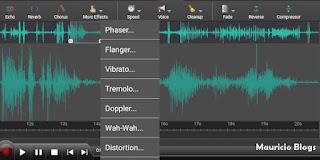 agregar efectos a mis grabaciones, audios, canciones