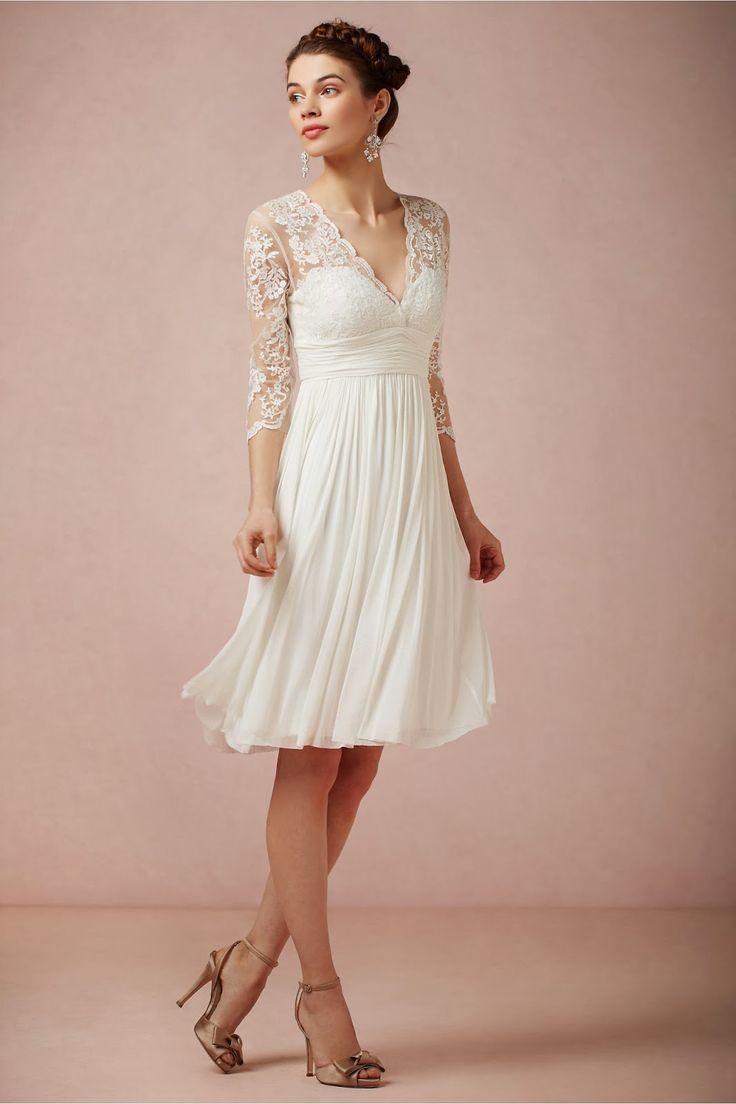Vestidos cortos de novia rosa clara