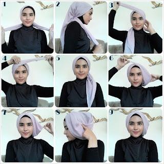 Tutorial hijab turban untuk kerja