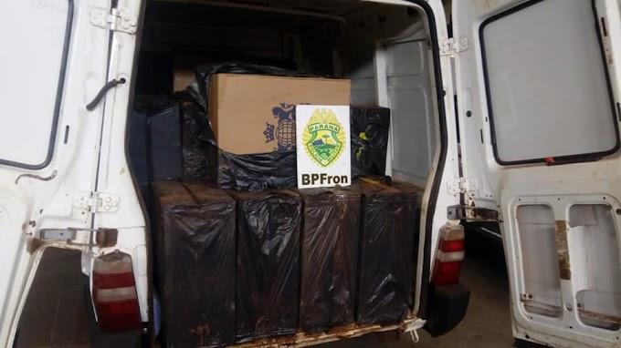 Veículo carregado com cigarros contrabandeados é apreendido pela BPFron em Toledo
