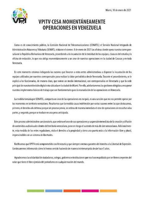 VPI TV anuncia fin de operaciones