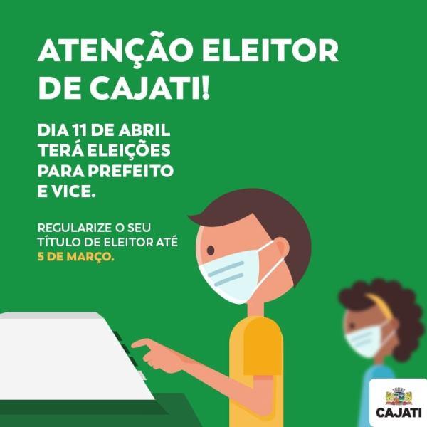 Cajati terá nova eleição para prefeito e vice no dia 11 de abril de 2021