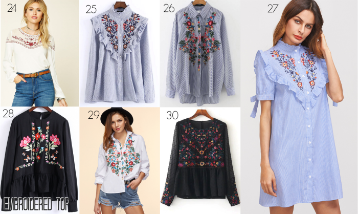 Embroidered Tops under $50 Spring Trend