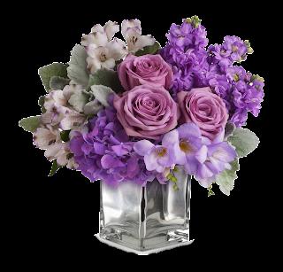 Vaso flor lilás