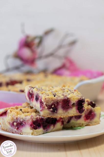 Rezept für Beeren Cheesecake mit Streuseln