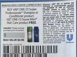 suave BOGO free coupon
