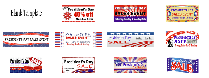 Presidents' Day Banner Templates