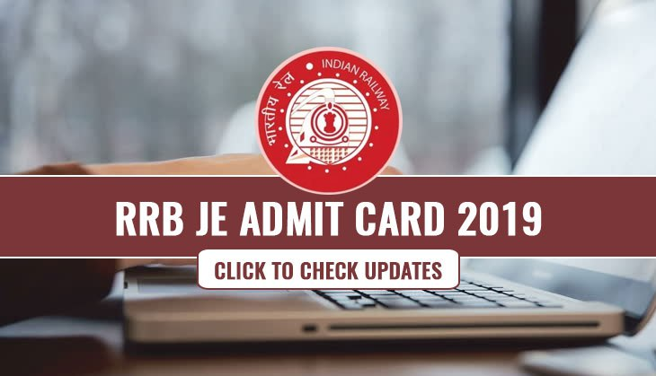 RRB Junior Engineer Admit Card 2019