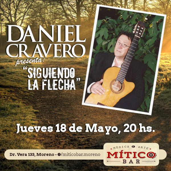 Flyer para el artista Daniel Cravero