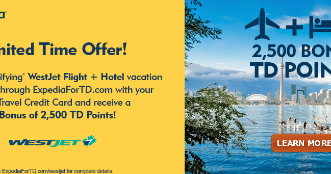 Redeem the TD Points you've earned on Purchases made with your TD Travel Credit Card.